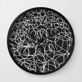 lineas de expresionismo negro Wall Clock