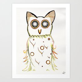 Faux Flammulated Fauna Art Print