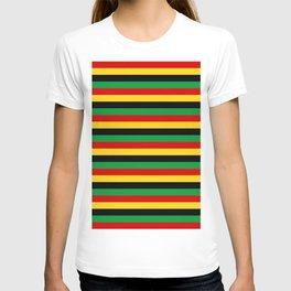 Guinea-Bissau Sao Tome and Principe flag stripes T-shirt