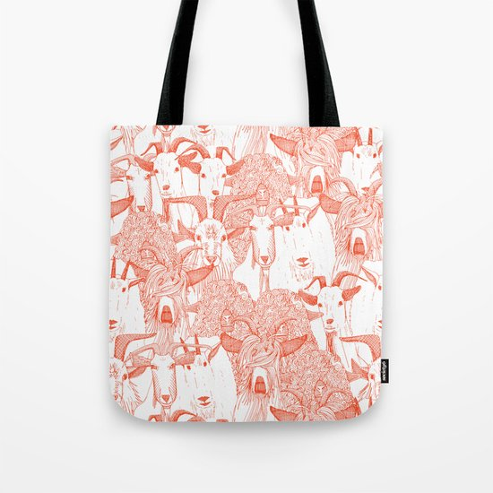 just goats flame orange Tote Bag