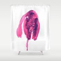 bear Shower Curtains featuring  Bear by Doruktan Turan