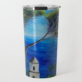 All Blue On Amalfi Coast Italy Travel Mug