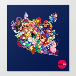 Super Smash Bros. Melee Canvas Print