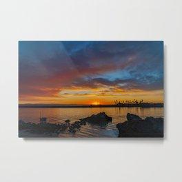 Sunset Rocks at Pirate's Cove Metal Print