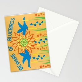 Beware of Bluebirds Stationery Cards