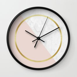 Golden ring II Wall Clock