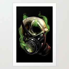 Skull/Gas mask 12 Art Print