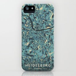 Heidelberg, Germany - Cream Blue iPhone Case