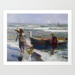 Joaquin Sorolla, Return from Fishing, 1889 Art Print