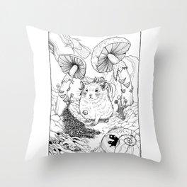 Hamster In Wonderland Throw Pillow