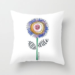sown in peace Throw Pillow