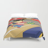sports Duvet Covers featuring Non Olympic Sports: Bowling by Alapapaju