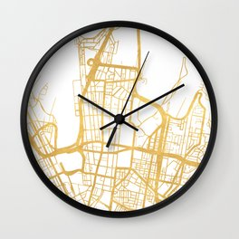 SYDNEY AUSTRALIA CITY STREET MAP ART Wall Clock