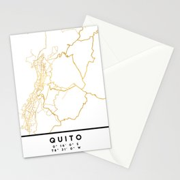 QUITO ECUADOR CITY STREET MAP ART Stationery Cards