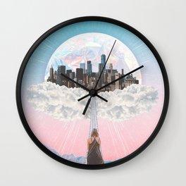 CITY OF PASTEL DREAMS III Wall Clock