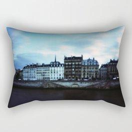 Paris at Dusk: Ile de la Cite Rectangular Pillow
