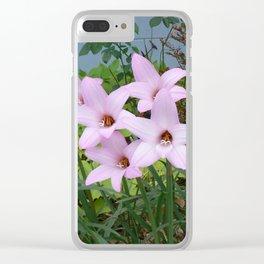 Rain Lilies Clear iPhone Case