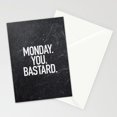 Monday You Bastard Stationery Cards