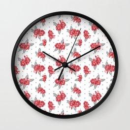 Floral Bama alabama crimson tide gifts for university of alabama students and alumni Wall Clock