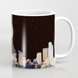 Blood Moon Over Pittsburgh Pennsylvania Skyline Coffee Mug
