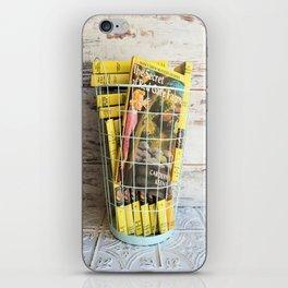 Nancy Drew in a Basket iPhone Skin