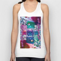 holographic Tank Tops featuring bubble cats going to the taco dome by STORMYMADE