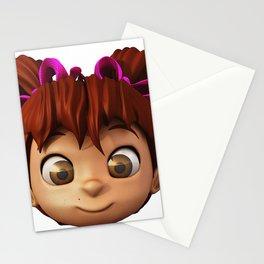 Cartoon Girl Stationery Cards