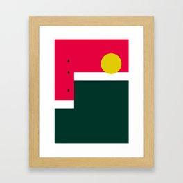 Watermelon Sun Step Framed Art Print