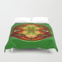 globe Duvet Covers featuring Amazed globe by Robert Gipson