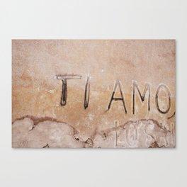 Ti Amo - I love you - Graffiti  Canvas Print