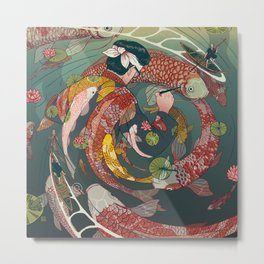 Ukiyo-e tale: The creative circle Metal Print