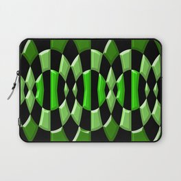 The Green Thang - Abstract Green and Black Retro Design Laptop Sleeve
