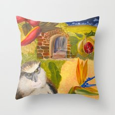 Scenes of Grenada Throw Pillow