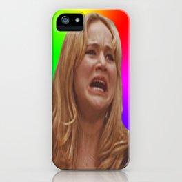 Jennifer Lawrence Rainbow Derp iPhone Case