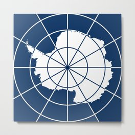 Flag of Antarctica Metal Print
