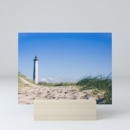Nantucket Beach Lighthouse Mini Art Print