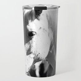 White Horse-B&W Travel Mug