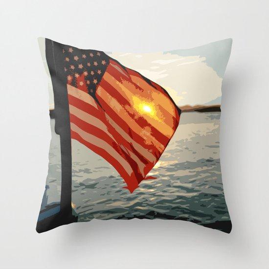 Patriot's Sunset Throw Pillow