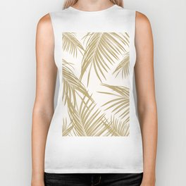 Gold Palm Leaves Dream #1 #tropical #decor #art #society6 Biker Tank