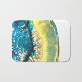 Blue and Yellow Agate Bath Mat