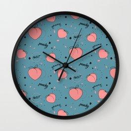 Sweet peach Wall Clock