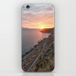 Vertical sunset iPhone Skin