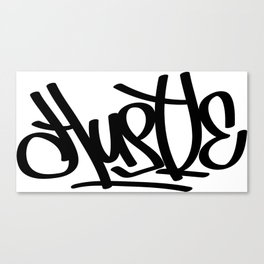 Hustle Graffiti Canvas Print