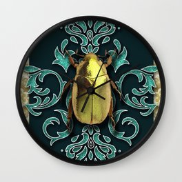GOLDEN BEETLE Wall Clock