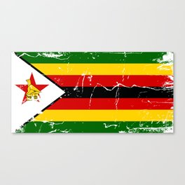 Zimbabwe flag Canvas Print