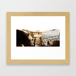 More Than Conquerors Framed Art Print