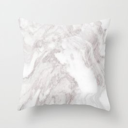 White Marble Mountain 013 Throw Pillow