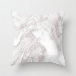 White Marble Mountain 013 Throw Pillow