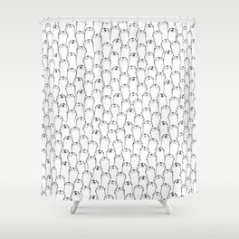 Otter pattern Shower Curtain