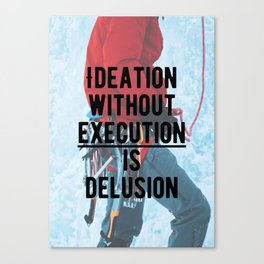 Motivational - Execute is key! Canvas Print